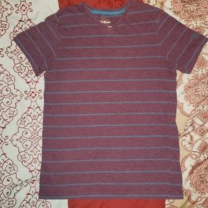 Epic Threads Maroon Striped Shirt